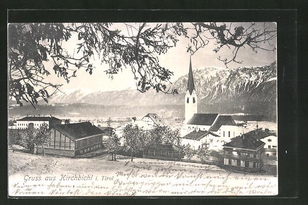 AK Kirchbichl, Teilansicht mit Kirche