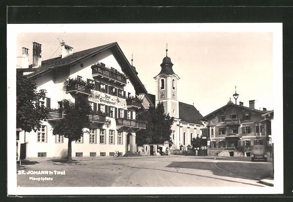 AK St. Johann, Hauptplatz Post- & Telegraphen-Amt