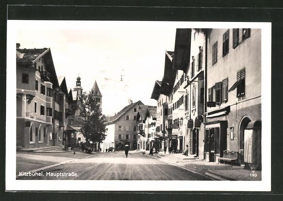 AK Kitzbühel, Blick in die Hauptstrasse