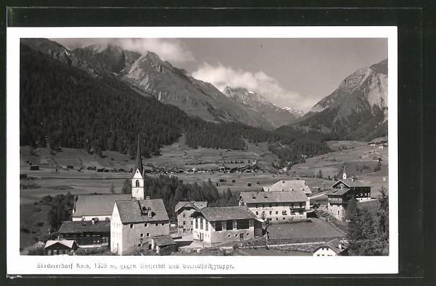 AK Kals am Grossglockner, Ortspartie mit Kirche