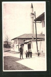 AK Sarajewo, Strassenpartie mit Kindern