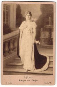 Fotografie E. Oertel, Berlin, Portrait Louise, Königin von Preussen