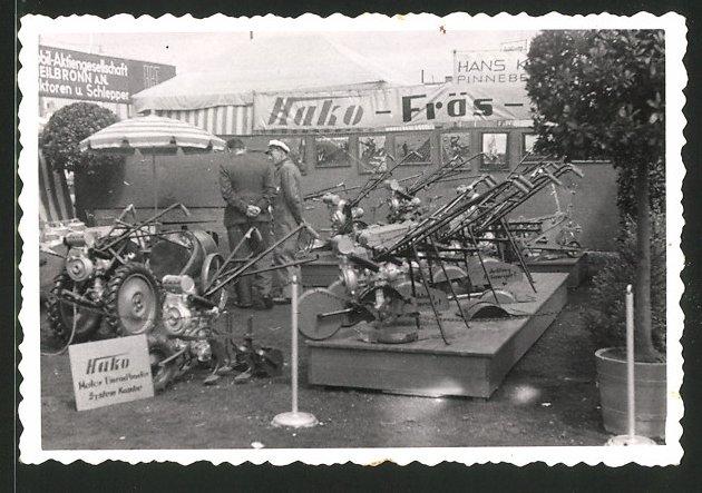 Fotografie Landmaschinen-Ausstellung, Hako Traktoren & Fräsen am Messestand