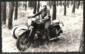 Fotografie Motorrad IFA-MZ-BK350 mit Seitenwagen, Krad mit Boxer-Motor
