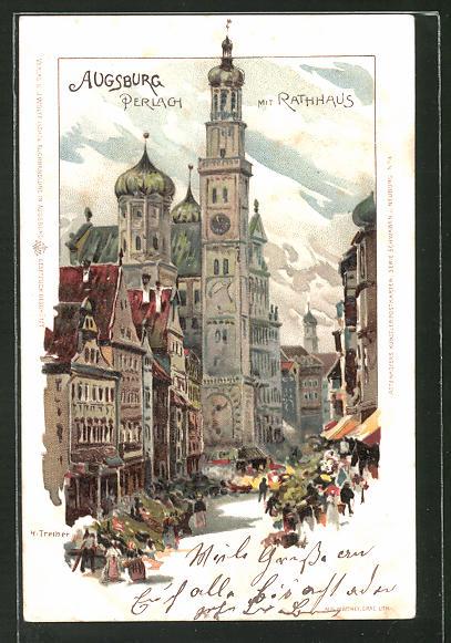 Künstler Augsburg künstler ak augsburg perlach mit rathaus nr 7970588 oldthing