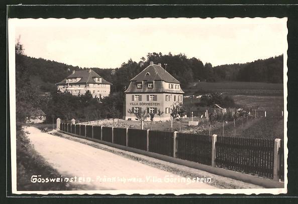 AK Gössweinstein / Fränk. Schweiz, Hotel-Villa Göringstein 0