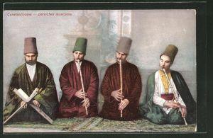 AK Constantinople, Derviches musiciens, türkische Derwische