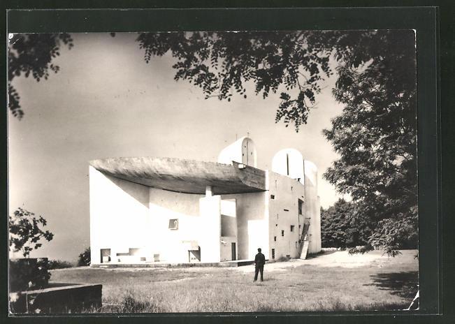 AK Ronchamp, Chapelle de Notre-Dame du Haut von Bauhaus-Architekt Le Corbusier