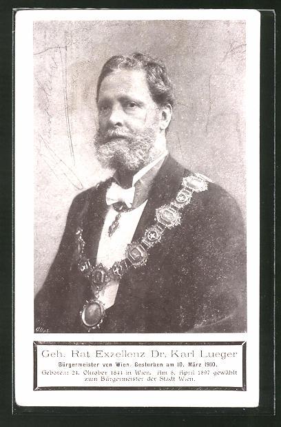 AK Bürgermeister Exzellenz Dr. Carl Lueger