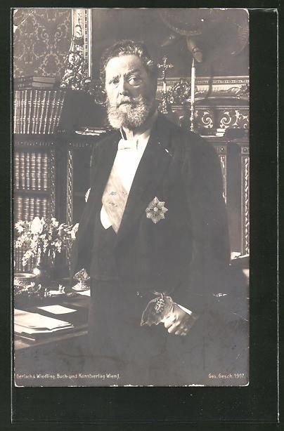 AK Bürgermeister Carl Lueger in seinem Arbeitszimmer