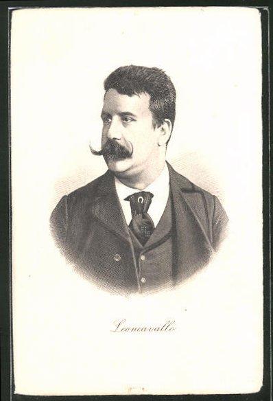 AK Portrait von Ruggero Leoncavallo, italienischer Komponist