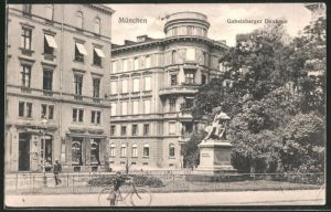 AK München, Gabelsberger Denkmal, Barer Strasse Ecke Ottostrasse