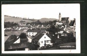AK Schwertberg, Teilansicht mit Blick zur Kirche