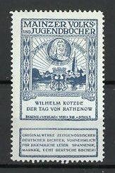 Reklamemarke Mainzer Volks- und Jugendbücher, Wilhelm Kotzde - Der Tag von Rathenow
