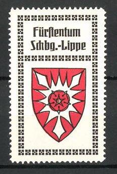 Reklamemarke Wappen vom Fürstentum Schaumburg-Lippe