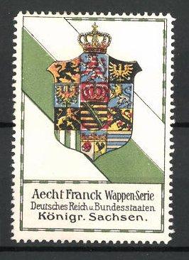 Reklamemarke Wappen Königreich Sachsen