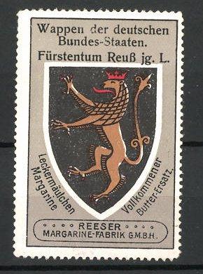 Reklamemarke Wappen vom Fürstentum Reuss