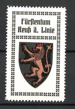Reklamemarke Wappen Fürstentum Reuss ä. Linie