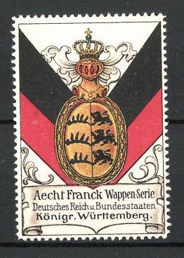 Reklamemarke Wappen vom Königreich Württemberg