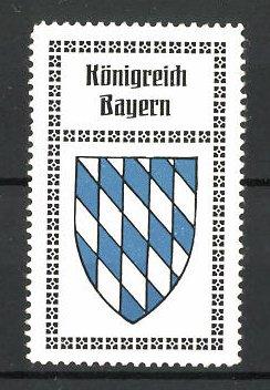 Reklamemarke Wappen vom Königreich Bayern