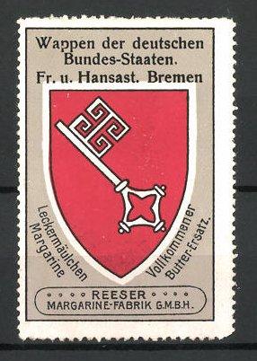 Reklamemarke Wappen von der Freien und Hansestadt Bremen