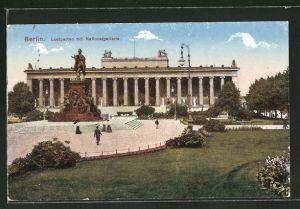 AK Berlin, Lustgarten mit Nationalgallerie