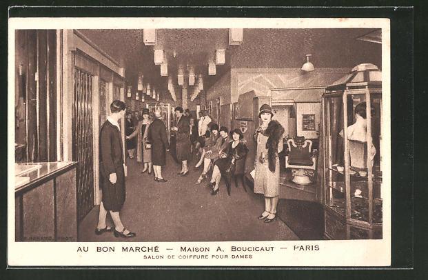 Ak Paris Maison A Boucicat Salon De Coiffure Pour Dames Nr
