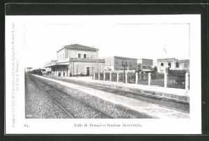 AK Valle di Pompei, Stazione ferrovaria, Bahnhof