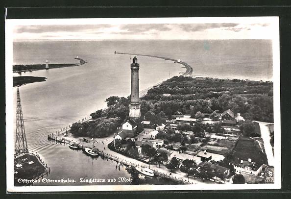 AK Osternothafen, Leuchtturm und Mole