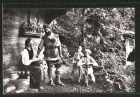 AK Interlaken, Wilhelm Tell-Freilichtspiele, Familie Tell