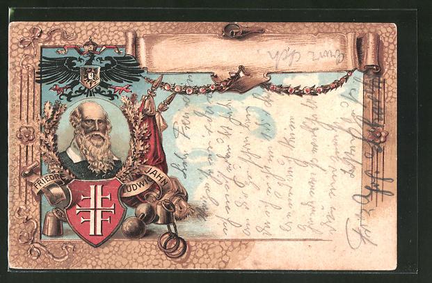 Künstler-AK Bildnis von Turnvater Jahn