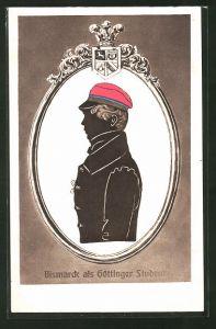 AK Bismarck als Göttinger Student