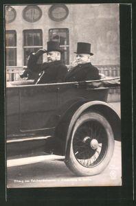 AK Einzug des Reichspräsidenten Paul von Hindenburg in Berlin