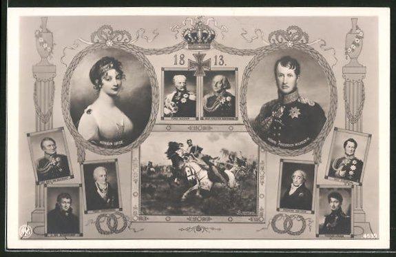 Ak Königin Luise Von Preussen König Friedrich Wilhelm Iii Und