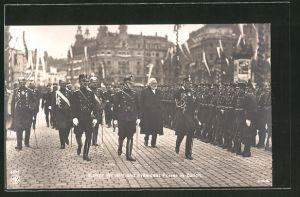 AK Zürich, Kaiser Wilhelm und Präsident Forrer