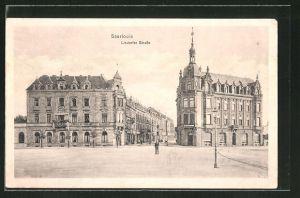 AK Saarlouis, Lisdorfer Strasse mit Hotel-Restaurant Kaiserhof