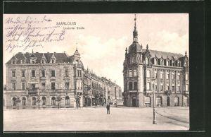 AK Saarlouis, Lisdorfer Strasse mit Blick zum Hotel-Restaurant Kaiserhof