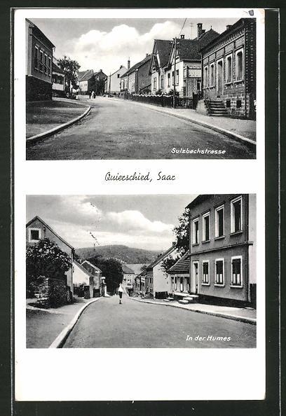 AK Quierschied /Saar, Sulzbacherstrasse, Strassenpartie In der Humes