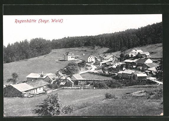 AK Regenhütte / Bayr. Wald, Gesamtansicht aus der Vogelschau