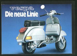 AK Vespa, die neue Linie, Werbung, Motorroller