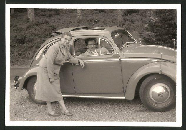 Fotografie Auto VW Käfer, Volkswagen PKW mit Faltdach