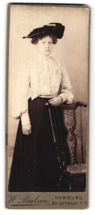 Paulsen Hamburg fotografie w paulsen hamburg portrait bürgerliche dame mit hut nr