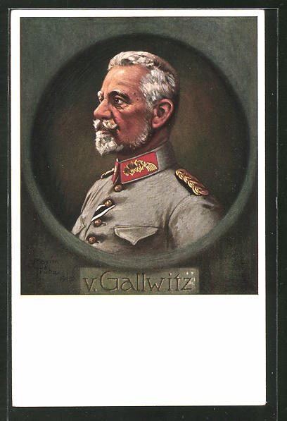 Künstler-AK Maxim Trübe: General von Gallwitz