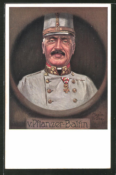 Künstler-AK Maxim Trübe: österr. General von Pflanzer-Baltin