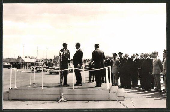 AK Berlin, Präsident Kennedy auf dem Flugplatz Tegel