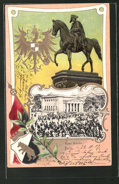 Passepartout-Lithographie Berlin, Neue Wache, Wappen