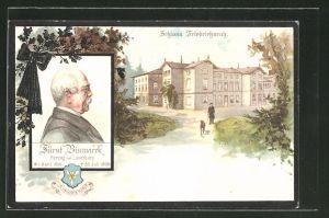 AK Friedrichsruh, Schloss, Fürst Bismarck-Portrait
