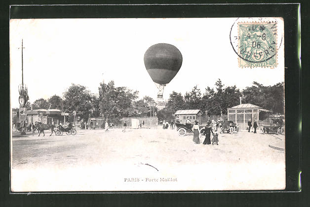 AK Paris, Ballon startet an der Porte Maillot