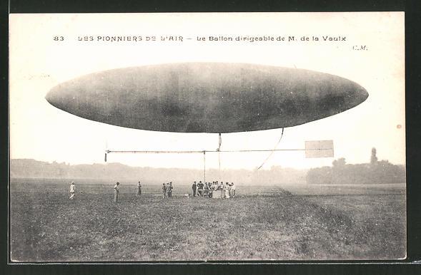 AK Zeppelin / Ballon dirigeable de M. de la Vaulx