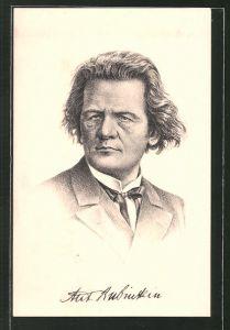 Künstler-AK Portrait von Anton Rubinstein